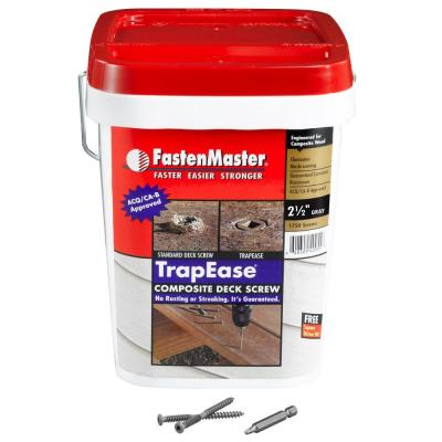 FastenMaster TrapEase 2-1/2 in. Composite Screw Grey - 1750 Pack-DISCONTINUED