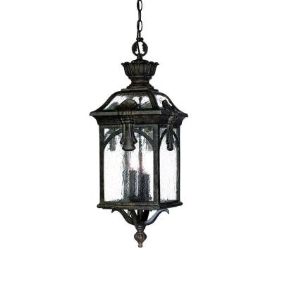 Acclaim Lighting Belmont Collection Hanging Outdoor 3-Light Black Coral Light Fixture