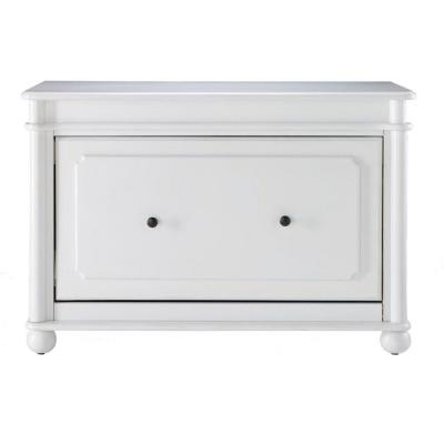 Home Decorators Collection Essex 23 in. H Aged Cream Shoe Cabinet