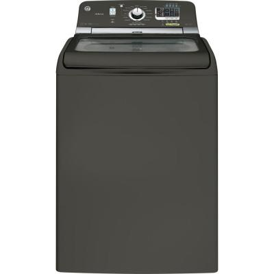 GE 5.0 DOE cu. ft. Top Load Washer with Steam in Metallic Carbon, ENERGY STAR