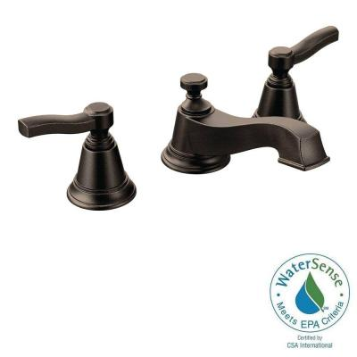 Rothbury 8 in. Widespread 2-Handle Low-Arc Bathroom Faucet Trim Kit in Oil Rubbed Bronze (Valve Sold Separately) Product Photo