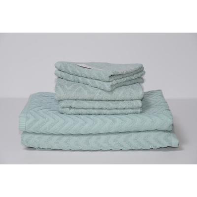 Cancun 6-Piece 100% Cotton Bath Towel Set