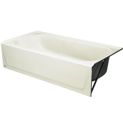 Bootz Industries Maui 5 ft. Right Drain Soaking Tub in Biscuit