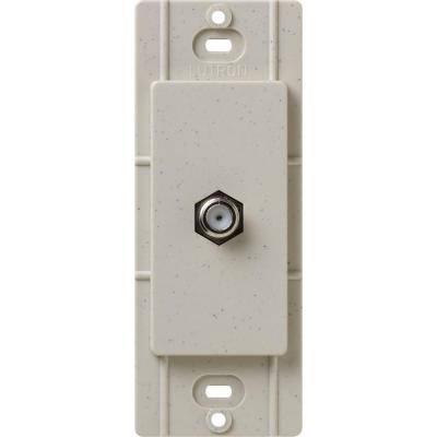 Lutron Satin Colors Coaxial Cable Jack - Stone