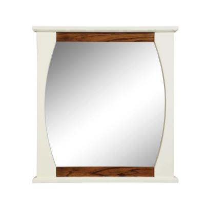 DECOLAV Natasha 30 in. W x 2.50 in. D x 32 in. H Wall Mirror in Black Lima White Gloss