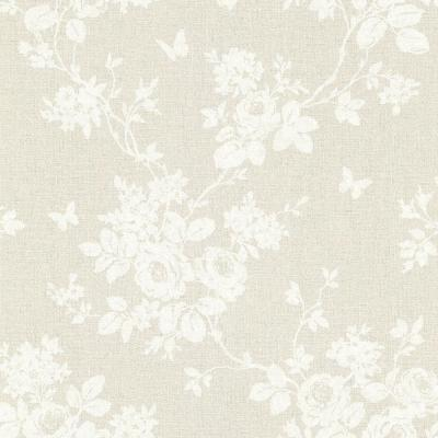 8 in. W x 10 in. H Gia Khaki Floral Wallpaper