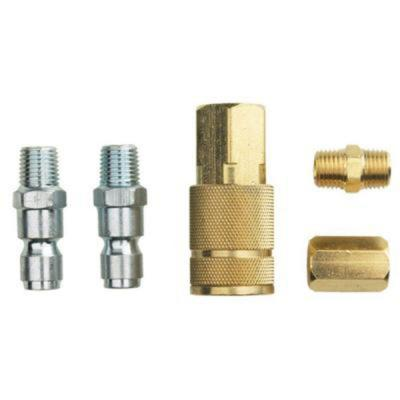 5-Piece 1/4 in. NPT x 3/8 in. Auto Coupler Kit