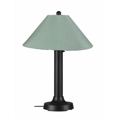 Patio Living Concepts Catalina 34 in. Outdoor Black Table Lamp with Spa Shade