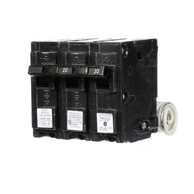 20 Amp Double-Pole Type QP Circuit Breaker with 120-Volt Shunt Trip Product Photo