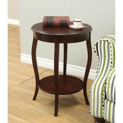MegaHome Espresso End Table