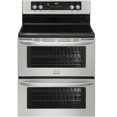 Frigidaire30 in. 7.0 cu. ft. Double Oven Electric Range with Self-Cleaning Convection Oven in Stainless Steel