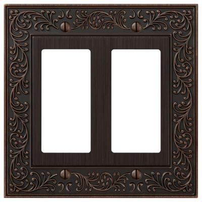English Garden 2 Decora Wall Plate - Aged Bronze Product Photo