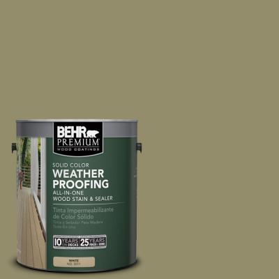 1 gal. #SC-151 Sage Solid Color Weatherproofing All-In-One Wood Stain and