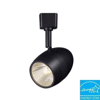 Hampton Bay 2.56 in. 1-Light Black LED Dimmable Track Lighting Fixture