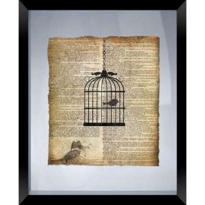 "22 in. x 18 in. ""Bird Cage"" Framed Wall Art"