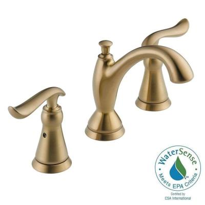 Delta Linden 8 in. Widespread 2-Handle High-Arc Bathroom Faucet in Champagne Bronze Featuring DIAMOND Seal Technology