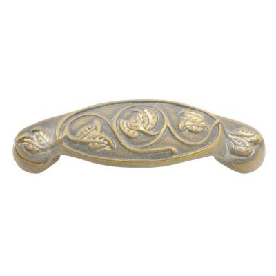 Touch of Spring 3 in. Blonde Antique Cup Cabinet Pull