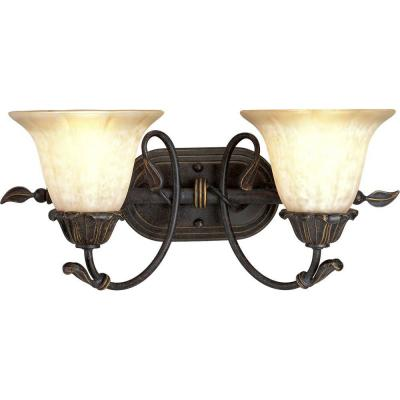 Progress Lighting Timberbrook Collection Espresso 2-light Vanity Fixture P3177-84
