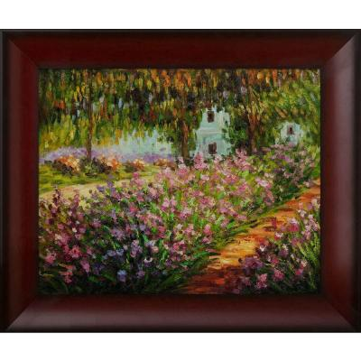 null 16 in. x 20 in. Artist's Garden at Giverny Hand-Painted Classic Artwork