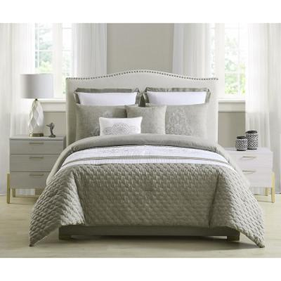 Ezra Quilted and Embroidered Comforter Set