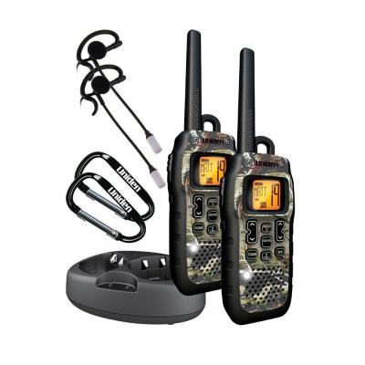 Uniden 50-Mile Camouflage Tru Waterproof GMRS with Headsets and DC Cord GMR5099-2CKHS