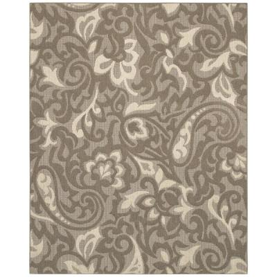 Mohawk Home Forte Taupe/Ivory 8 ft. x 10 ft. Area Rug
