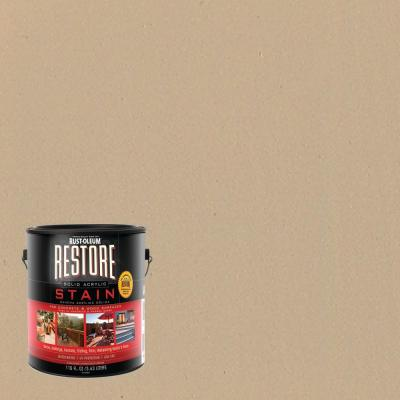 Rust-Oleum Restore 1 gal. Solid Acrylic Water Based Beach Exterior Stain