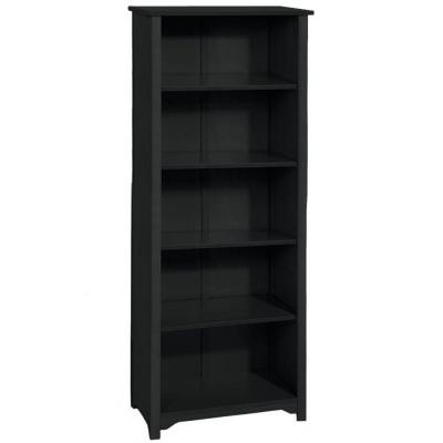 Home Decorators Collection Oxford 24 in. 5-Shelf Open Bookcase in Black