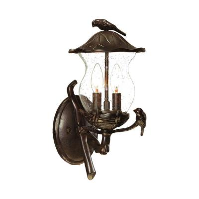 Acclaim Lighting Avian Collection Wall-Mount 2-Light Outdoor Black Coral Light Fixture