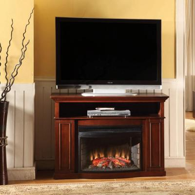 Muskoka Sheppard 46 in. Media Console Electric Fireplace in Dark Cherry-DISCONTINUED