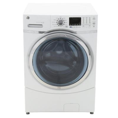 GE 4.3 DOE cu. ft. High-Efficiency Front Load Washer in White, ENERGY STAR