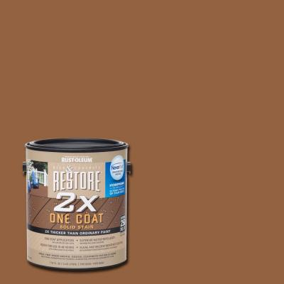 Rust Oleum Restore 1 Gal 2x Timberline Solid Deck Stain