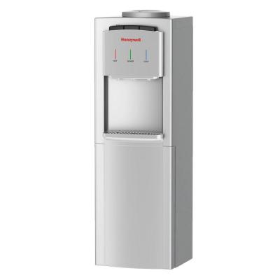 Honeywell Freestanding Top-Loading Hot, Room and Cold Water Cooler in Silver