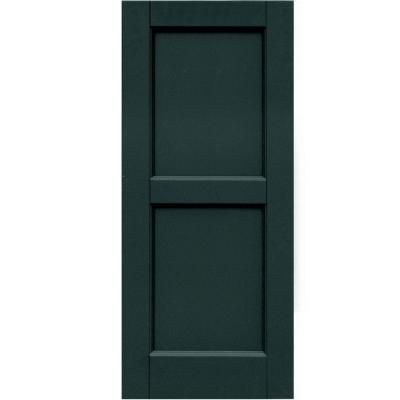 Winworks wood composite 15 in x 35 in contemporary flat - Flat panel exterior vinyl shutters ...