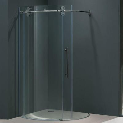 Sanibel 40.625 in. x 74.625 in. Frameless Bypass Shower Enclosure in