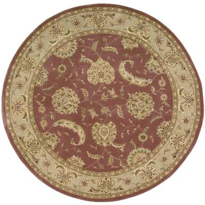 Nourison 2000 Rose 6 Ft X 6 Ft Round Area Rug 040817