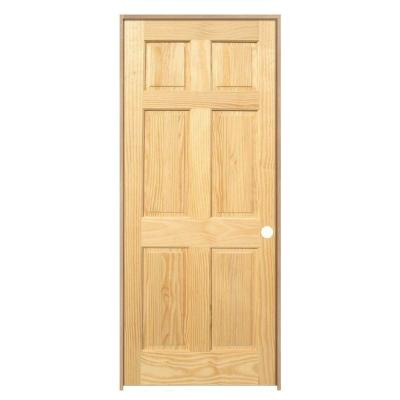 28 in. x 80 in. Pro Collection 6-Panel Solid Core Pine Single Prehung Interior Door (4-Pack) Product Photo