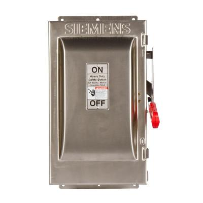 Heavy Duty 60 Amp 600-Volt 2-Pole type 4X Non-Fusible Safety Switch Product Photo