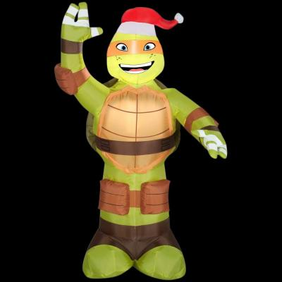 Gemmy 3.5 ft. LED Inflatable Michelangelo with Santa Hat