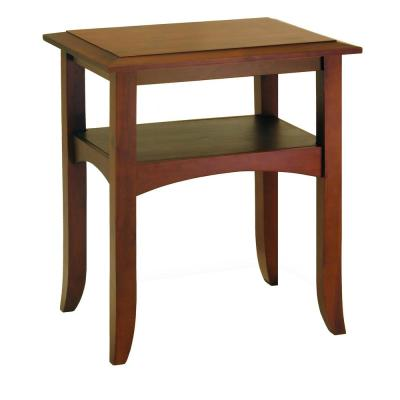 Winsome Wood Craftsman Walnut End Table