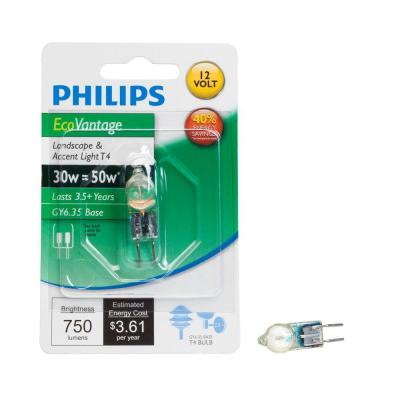 Philips 50 Watt Equivalent Halogen T4 Landscape and Accent Light Bulb