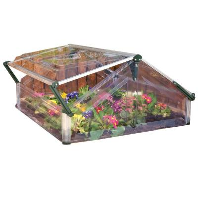 Palram Cold Frame Double 3 ft. 6 in. x 3 ft. 5 in. Mini Garden Greenhouse
