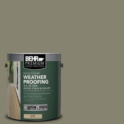 BEHR Premium 1 gal. #SC-144 Gray Seas Solid Color Weatherproofing All-In-One Wood Stain and Sealer