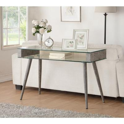 Acme Furniture Boyd Gray Glass Top Console T..
