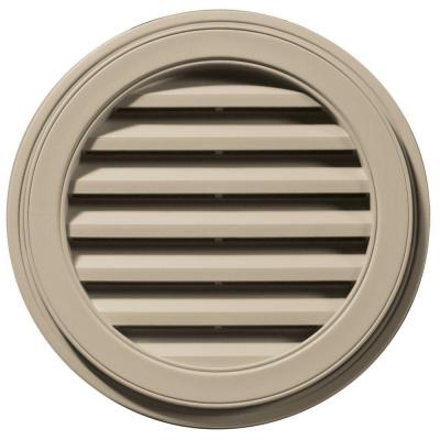 22 in. Round Gable Vent in Clay Product Photo