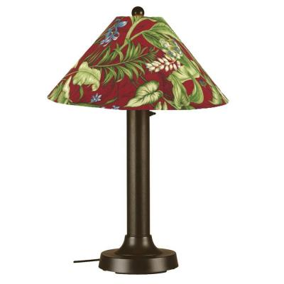 Patio Living Concepts Seaside 34 in. Outdoor Bronze Table Lamp with Lacquer Shade