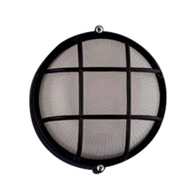 PLC Lighting 1-Light Outdoor Black Wall Sconce with Frost Glass
