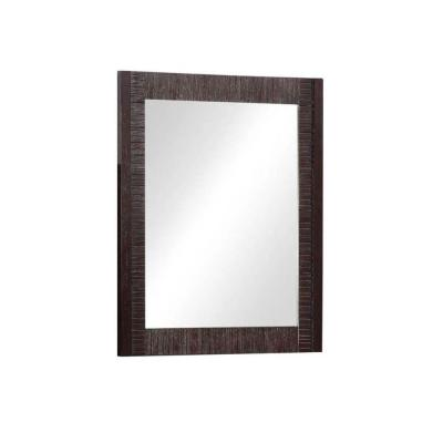 29 in. L x 24 in. W Framed Wall Mirror in Light Mahogany Product Photo