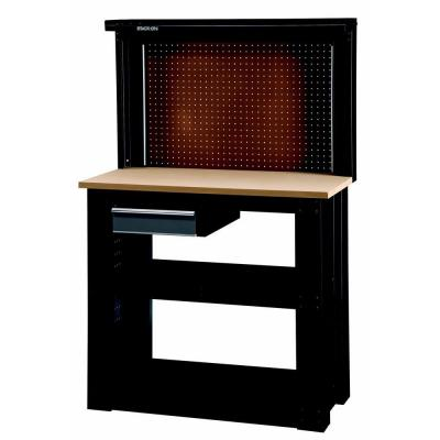 Stack On Rta Steel Reloading Bench Black With Silver Gray Drawers Wb 402 Ds The Home Depot