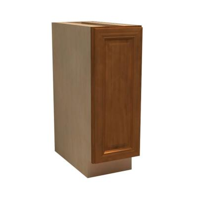 18x34.5x24 in. Clevedon Assembled Base Cabinet with 2 Wastebaskets in Toffee